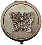Fei Gifts Pewter Butterfly Compact Mirror