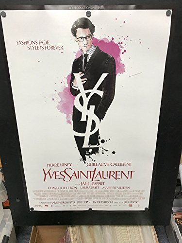 YSL Yves Saint Laurent 2014 Original Double Sided ONE SHEET Fashion Movie Poster - Ysl Shop