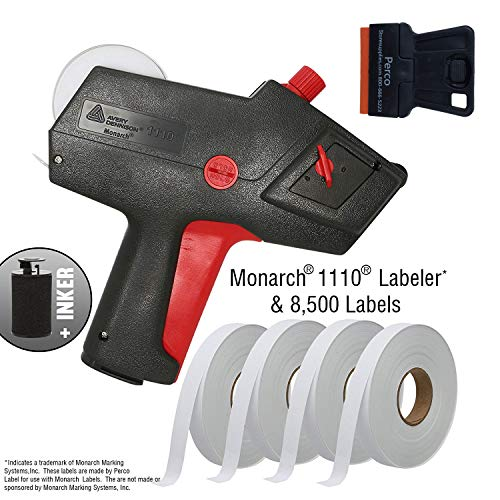 Monarch 1110 Price Gun with Labels Starter Kit: Includes Price Gun, 8,500 White Pricing Labels and Preloaded ()