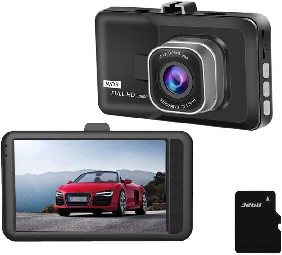 Syfinee Dash Cam UHD Car Driving Recorder Camera 3 inch Screen Display 1080P Wide Angle Lens Nigh Vision Dashboard Camera Full HD