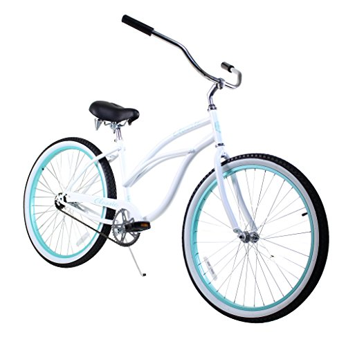 Zycle Fix Women's Classic Lady Whitey Beach Cruiser