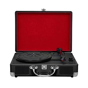 Godyluck Tocadiscos con Altavoces Vintage Fonógrafo Reproductor de ...