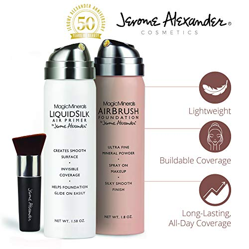 Jerome Alexander Airbrush Foundation (3 Piece Set, Medium)
