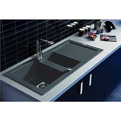 Altro-Lavello da cucina reversibile a encaster 2 secchi in composito ...