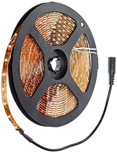 Nubee 3528pcw 16.4 Feet(5 Meter) Clear White Waterproof 300 LEDs Flexible LED Strip Light and Adhesive Back 12 Volt