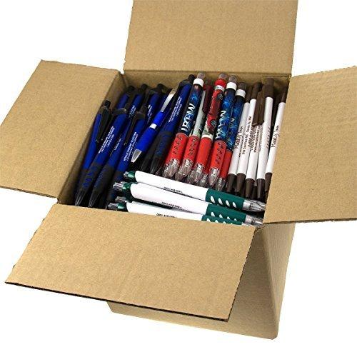 DG Collection (5lb Box Approx. 200-250 pens) Assorted Misprint Retractable Ballpoint Pens Office Ink Pen Supplies Big Bulk Lot]()