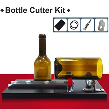 Cortadora De Botellas De Vidrio para Botellas Redondas, Kit De Herramientas De Corte para Proyectos