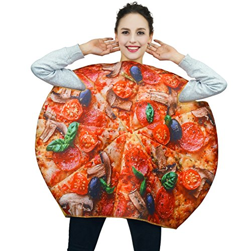 Adult Large Round Pizza Unisex Costumes (Womens Pizza Costume)