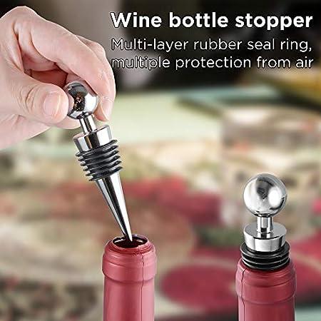 Ipow Sacacorchos de abrebotellas de cerveza de vino tinto con tapón de botella de vino
