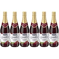 Welch's Sparkling Red Grape Juice Cocktail, Non-Alcoholic, 25.4 Ounce Bottles (Pack of 6)