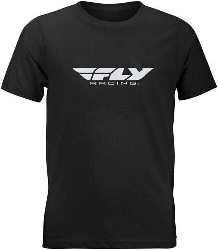 Dark Grey Heather Small Fly Racing 2021 Youth Corporate T-Shirt