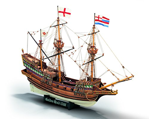 Mamoli MV30 - Golden Hind - Wood Plank-On-Bulkhead Model Ship Kit - Scale: 1/53 Length: 495 mm (20