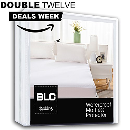 Best Price Balichun Waterproof Breathable Hypoallergenic  Twin Mattress Pad Protector Cover, White (...
