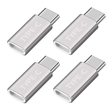 Amazon.com: Adaptador USB tipo C, conector USB C a Micro USB ...