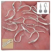 DIY 10pcs Hot Hook Earwire 925 silver Earring Jewelry Findings Handmade by Siam panva