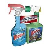 2 PACK Indoor / Outdoor Combo Windex Original Glass Cleaner AND Windex Outdoor Glass & Patio Cleaner