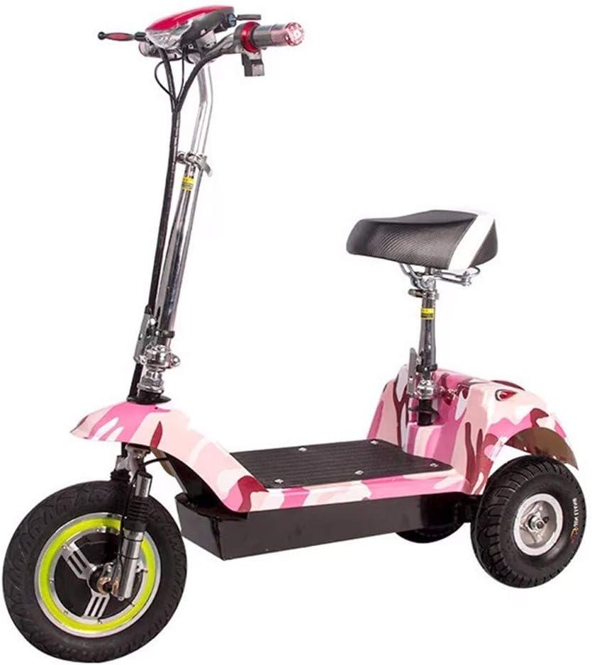 EmbLd Scooter de Movilidad Plegable, Triciclo eléctrico portátil, batería para Adultos, Coche, Bicicleta eléctrica de 3 Ruedas, 12 Ah Puede durar 20 km