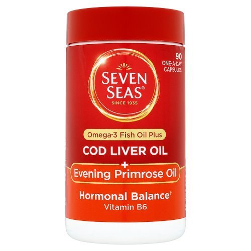Cod Oil Primrose Evening Liver (Seven Seas Cod Liver Oil Plus Evening Primrose Oil One A Day 90 Capsules by Seven Seas Limited)