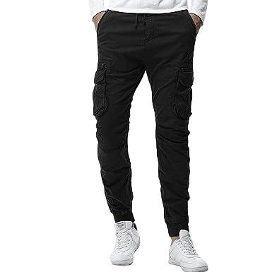 Chándal Sueltos Ocasionales Pantalones de Hombre Jeans Skinny ...