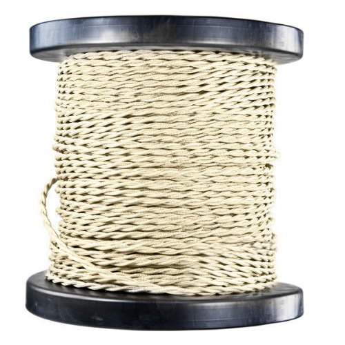(100 ft. Spool - Rayon Antique Wire - Cream - 18 Gauge - Twisted Cord)