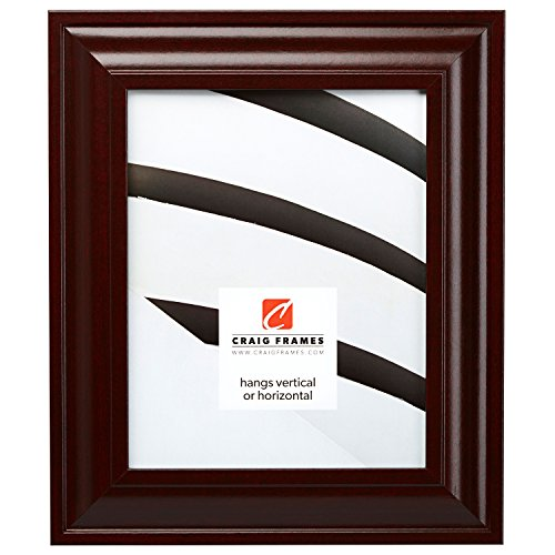 (Craig Frames 76047 11 by 17-Inch Picture Frame, Smooth Wood Grain Finish, 2-Inch Wide, Dark)