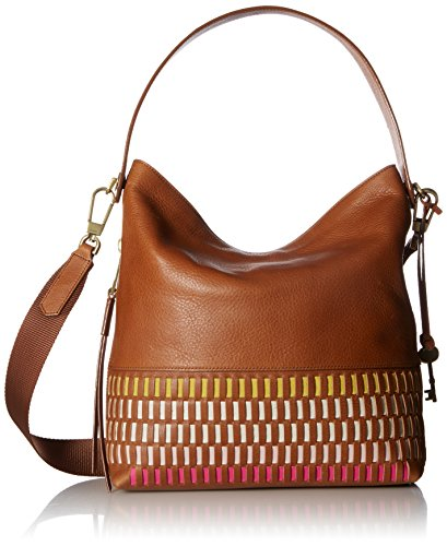 Fossil Maya Small Hobo Handbag, Pink/Multi by Fossil