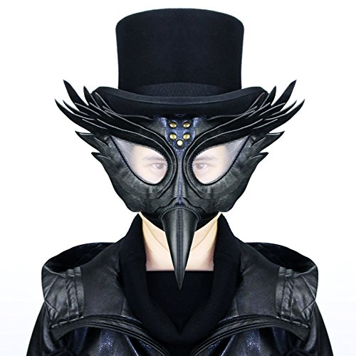 Plague Doctor Kit (PU Lether Plague Bird Doctor Nose Cosplay Fancy Gothic Steampunk Mask for Masquerade Party Halloween Gift)