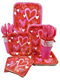 Valentines Day Party Supplies Bundle -Valentines Day Party Decorations, 1st Valentines Day, 1st