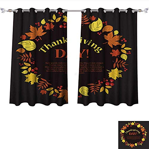 Nalahome Printed Blackout Curtain 4 09 Grommet Window Curtain Drape Panels W63 x L45/Pair -
