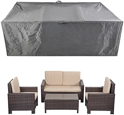 "CKCLUU 88"" x 58"" x 28"" Outdoor Patio Furniture Set Covers Waterproof Heavy Duty Durable"