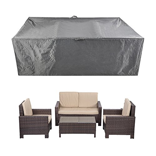 "Patio Furniture Set Covers Waterproof Outdoor Table Covers Sectional Conversation Loveseat Sofa Set Covers Waterproof Durable Heavy Duty 88"" L x 58"" W x 28"" H"