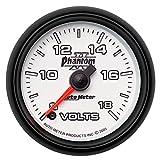 Auto Meter 7591 Phantom II 2-1/16'' 8-18 Volts Voltmeter Gauge