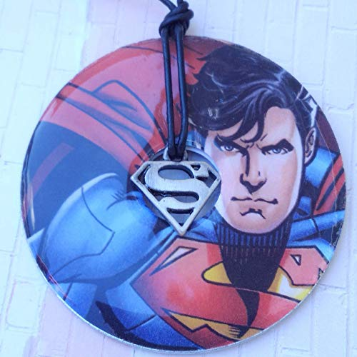 Clearance Superman background with Superman charm
