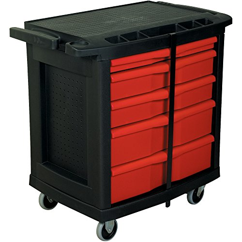 Boxes Fast Mobile Work Center, Black, (Pack of - Visual Cart Audio Security