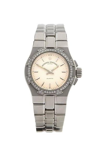 Vacheron Constantin/Overseas/reloj mujer/Esfera Blanco guilloché/caja y pulsera acero: Amazon.es: Relojes