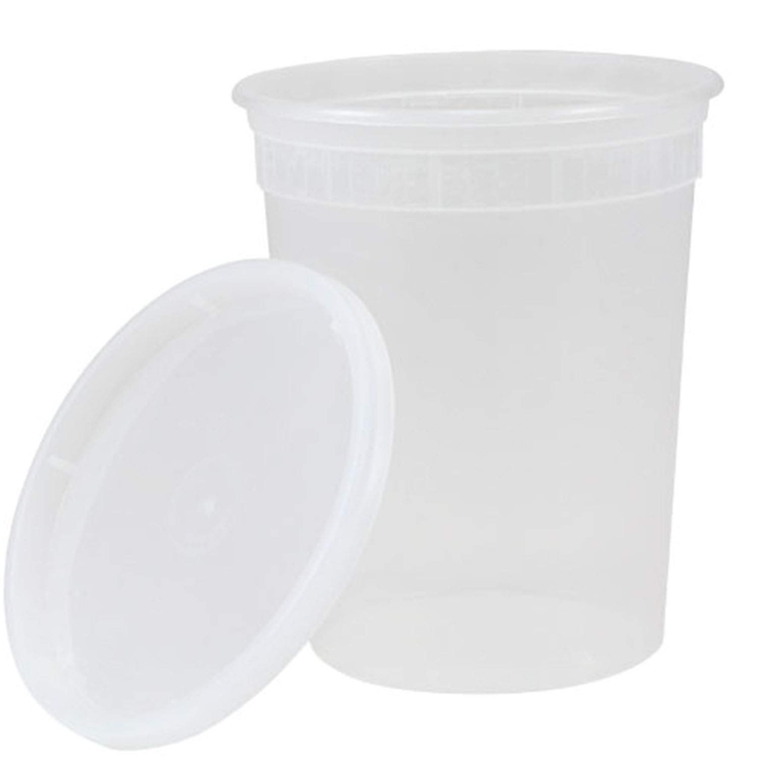 TigerChef Deli Containers with Lids Leak Proof, Microwave, Freezer and Dishwasher Safe, BPA-Free, 32 oz. Capacity (Pack of 20)