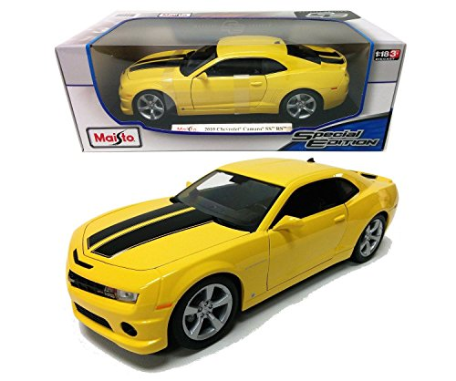 New 1:18 W/B SPECIAL EDITION - Yellow 2010 Chevrolet Camaro Diecast Model Car By Maisto