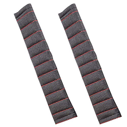 YUSHHO56T Car Seat Belt Cover Car Seats Accessoires Belt Cover 2Pcs Stylish Car Vehicle Seat Safety Belt Soft Breathable Shoulder Pads Cover - Black+Red from YUSHHO56T