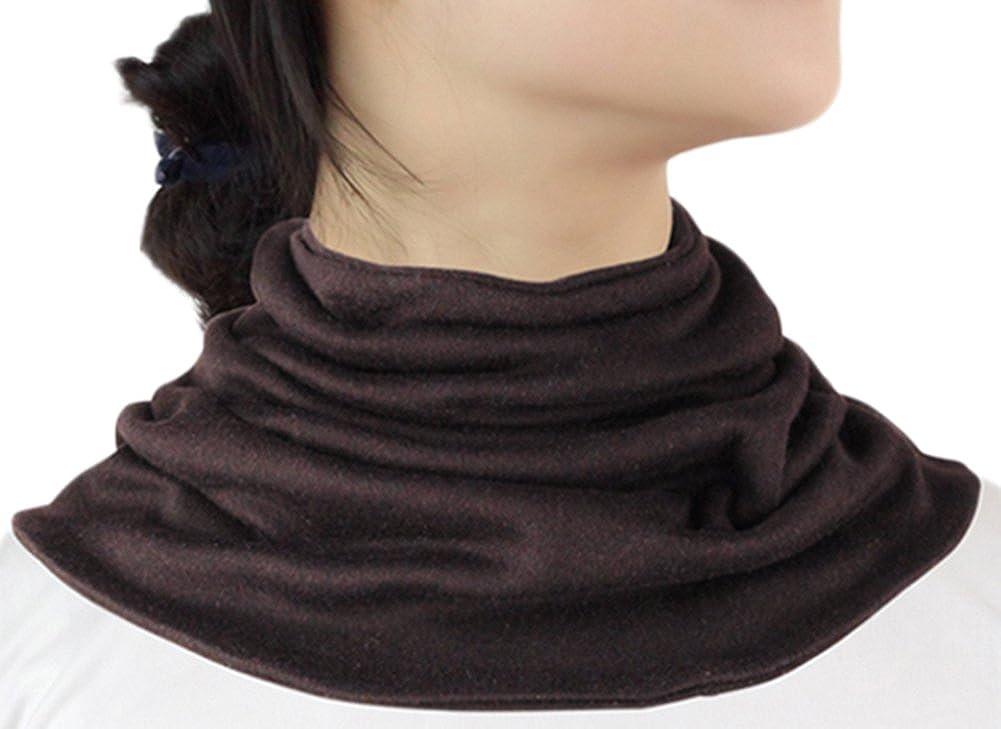 9a8ad7a44083d Women Silk Cashmere Neck Gaiter Autumn Winter Warmth Knitted Neck Scarf