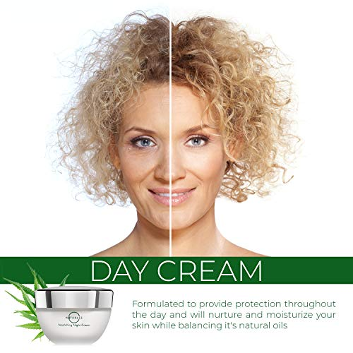 518IknRdP5L - O Naturals Organic Moisturizing Hemp Oil Day Face & Neck Anti-Aging Cream. Relives Dry Itchy Cracked Skin. Prevent Signs of Aging Soothe Inflammation Collagen Boosting. Omega -3 Hyaluronic Acid. 1.7oz