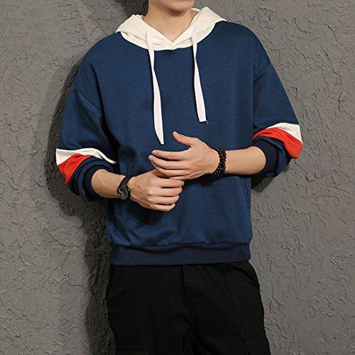 メンズ トレーナー シャツ Tシャツ スポーツ 白 赤 青 3色 ゆったり ゴルフ カジュアル アウトレット ファッション ノーブランド to55[RAKU SHOP]