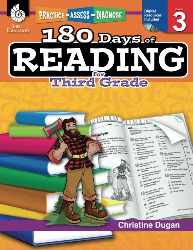 180 Days of Reading for Third Grade (Ages 7 - 9) Easy-to-Use 3rd Grade Workbook to Improve Reading Comprehension Quickly, Fun Daily Phonics Practice for 3rd grade reading (180 Days of Practice) cover