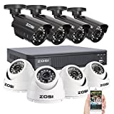 ZOSI 8CH Full 960H CCTV Securtiy DVR Recorder + 1000TVL 4PCS Bullet & 4PCS Dome Outdoor Cameras Security Surveillance System Kit