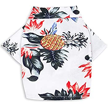 d6663bef MaruPet Doggie Summer Pineapple Print Polo T Shirts Hawaiian Style Sun  Protection Lightweight Pet Air Conditioning Clothes Dog Cotton Sunscreen  T-Shirtfor ...