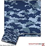 Sony PS3 Slim Skin WraptorCamo Digital Navy