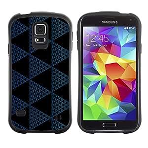 Paccase / Suave TPU GEL Caso Carcasa de Protección Funda para - Polygon Pattern Black Navy Blue - Samsung Galaxy S5 SM-G900