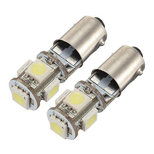 nicebuty –  Juego de 2 Bombilla 5 LED 5050 SMD BA9S H6 W T4 W anti sin error ODB lá mpara