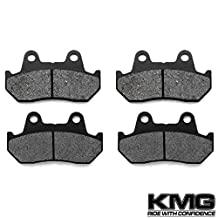 1984-1987 Honda GL 1200 A I Goldwing GL1200 Front Carbon Kevlar Organic NAO Disc Brake Pads Set