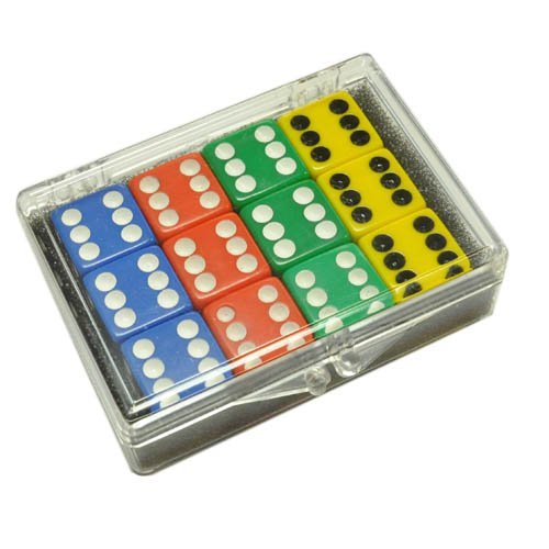 沸騰ブラドン Set Red of 12 Blue Opaque dice - - Blue - Red - Yellow - Green in Acrylic Box B007Z5XI1Q, GRADIOR:de271386 --- cliente.opweb0005.servidorwebfacil.com