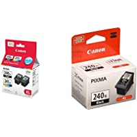 Genuine Canon PG-240XL/CL-241XL HIGH Yield Ink Cartridge Value Pack, Black and Tri-Colour - 5206B020 Bundle with Genuine…